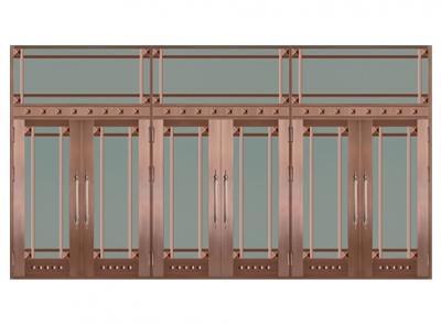 豪华玻璃铜门