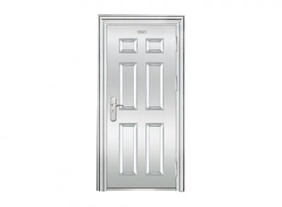 压花白钢门