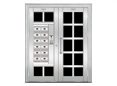 信报箱白钢单元门