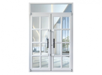瓷白型材门