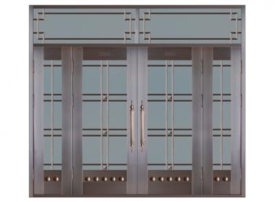 仿铜门安装