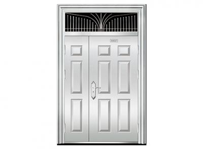 三七白钢门