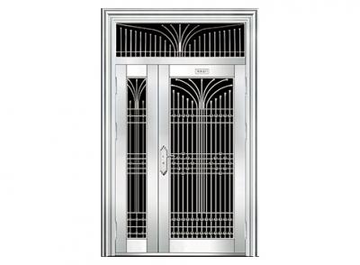 三七玻璃白钢门
