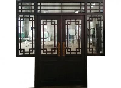 锌钢门联窗仿铜门