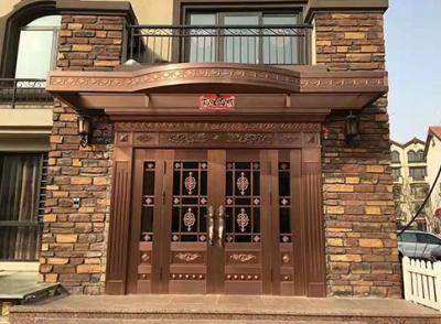 花团锦簇铜门