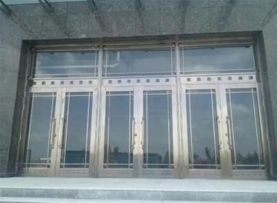 不锈钢玻璃非标门