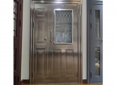 白钢单元门